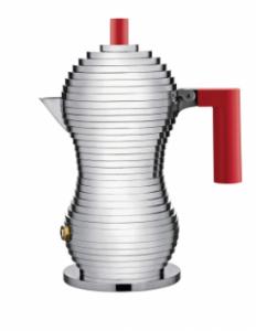 ALESSI CAFFETTIERA PULCINA 1 TAZZA MANICO ROSSO DESIGN MICHELE DE LUCCHI NON ADATTA INDUZIONE MDL02/1 R