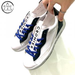 CROMIER - Sneakers Nappa - bianco, petrolio.
