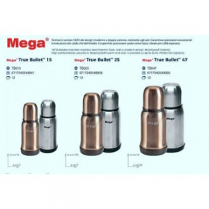 Uniflame Mega True Bullet Termos 0,15 Lt In Acciaio Grigio o Gold