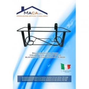 Balconiera In Ferro Nero Modello Giada 50 cm