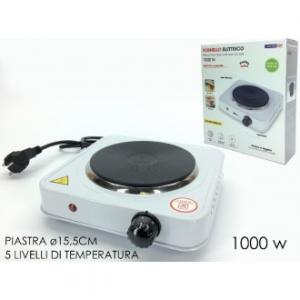 Fornello Elettrico Con Termostato 5 Livelli Di Temperatura 1000 Watt Piastra Per Cucinare Casa Cucina