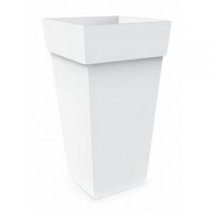 Vaso Quadro Alto Melrose Bianco