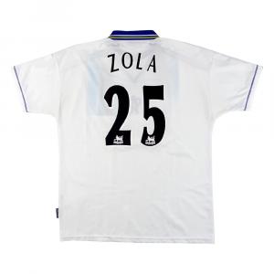 1998-00 Chelsea Maglia Away #25 Zola XL