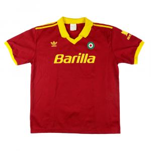 1991-92 Roma Maglia Home #2 Garzia XL