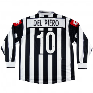 2001-02 Juventus Maglia Home #10 Del Piero Match Issue L