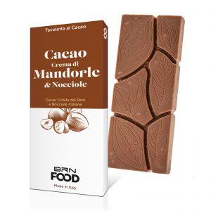 Tavoletta Cacao Criollo e Crema di Mandorle e Nocciole