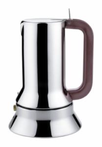 ALESSI CAFFETTIERA ESPRESSO DA 3 TAZZE IN ACCIAIO INOX 18/10 FONDO MAGNETICO DESIGN RICHARD SAPPER ADATTA ALL'INDUZIONE 9090/3