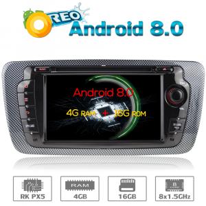 ANDROID 8.0 autoradio 2 DIN navigatore per Seat Ibiza 2009 2010 2011 2012 2013 GPS DVD WI-FI Bluetooth MirrorLink