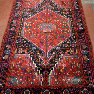 Tappeto Iraniano 205*127 Cm Colore Rosso Nero S