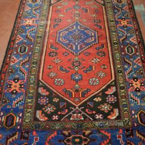 Tappeto Iraniano 230*137 Cm Cornice Blu Centrale Blu