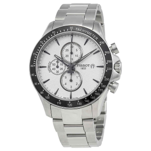 OROLOGIO Tissot V8 cronografo quadrante argento