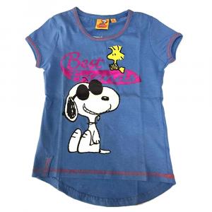 T-shirt blu SNOOPY a manica corta bambina - 4 anni
