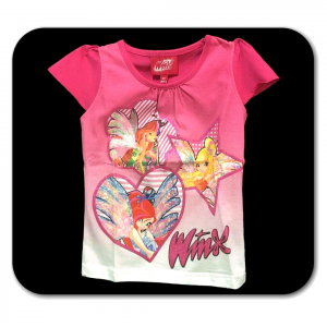 T-shirt rosa WINX a manica corta bambina - 3 anni