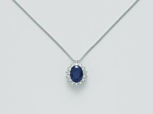 Collana donna Miluna CLD4107 zaffiro blu