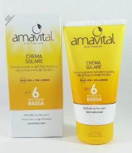 Crema solare protezione bassa SPF 6 Amavital