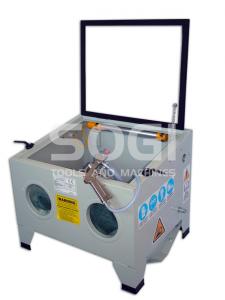 Sabbiatrice da banco profesionale SOGI S-56 con accessori cabina di sabbiatura