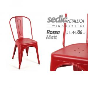 Gicos Sedia Metallica Rossa Matt.