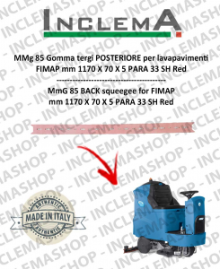 MMg 85 Rear Squeegee rubber for scrubber dryer FIMAP