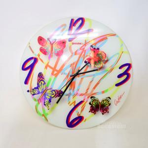 Orologio Farfalle Guzzini In Vetro