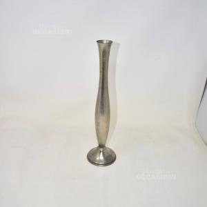 Vaso In Peltro Lunghezza 35 Cm