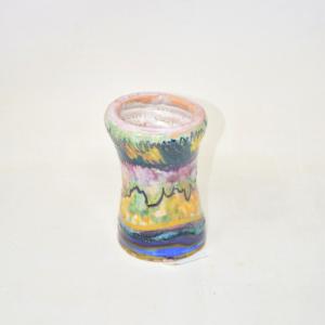 Vasetto In Terracotta 10 Cm Dipinto A Mano
