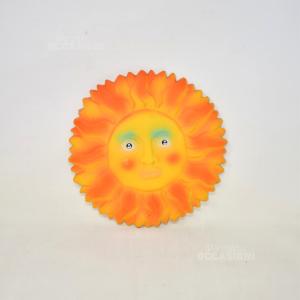 Oggetto Sole In Ceramica Giallo