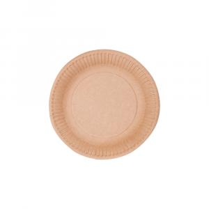 Piatti piani da dessert in cartoncino naturale - 18 cm