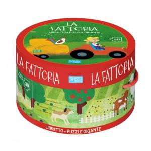 SASSI EDITORE SASSI EDITORE LA FATTORIA. LIBRO & PUZZLE GIGANTE (SCATOLA TONDA) - N.E. 2019