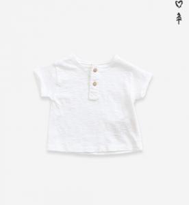 T-shirt in cotone organico cin bottoni