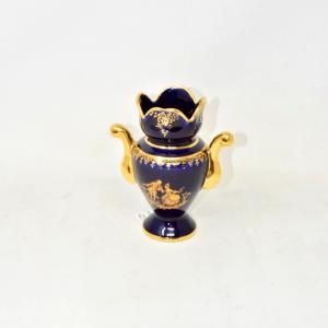 Vaso Limoges Blu/oro