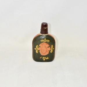 Bottiglia Rivestita In Pelle Verde Per