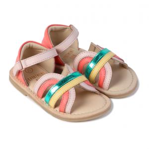 Sandali in pelle arcobaleno Carrément Beau