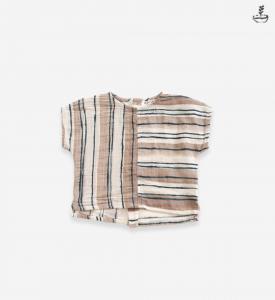 Camicia in cotone organico stampato