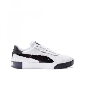Puma Cali Brushed White Black da Donna