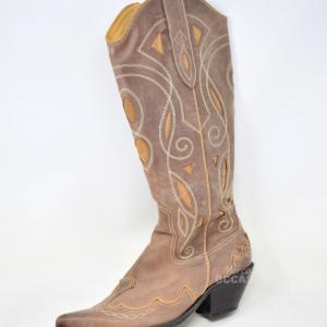 Stivale Beige Stile Texano Geox N. 41