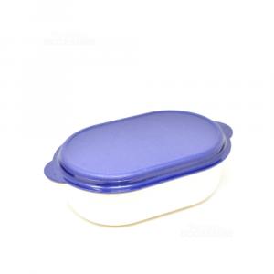 Conenitore Blu Bianco Tupperwere 30 Cm
