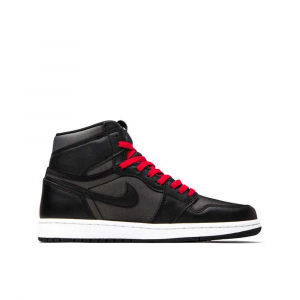 Jordan Air 1 Retro High Black-Gym Red da Bambino