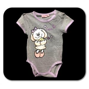 Body grigio PECORELLA a manica corta neonato - 24 mesi