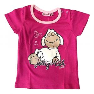 T-Shirt fucsia e rosa PECORELLA a manica corta neonata - 24 mesi