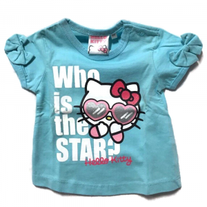 T-Shirt celeste HELLO KITTY a manica corta neonata - 6 mesi