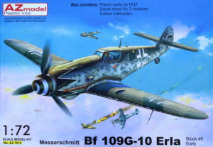 Me-109G-10 Erla early (3x camo)