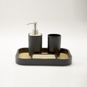 Set bagno Plain nero ceramica