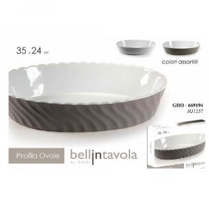 Gicos Pirofila Ovale Ceramica h7x.35X24CM.