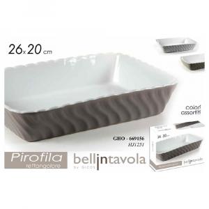 Gicos Pirofila Rettangolare  Ceramica 26X20 cm