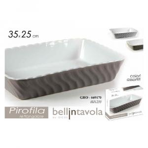 Gicos Pirofila Rettangolare Ceramica 35X25 cm
