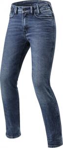 Jeans moto donna Rev'it Victoria Ladies L30 Blu Medio