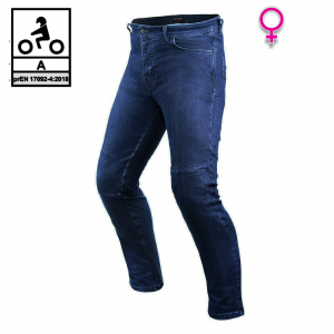 Jeans moto donna Befast JARVIS Lady CE Certificati Blu Scuro