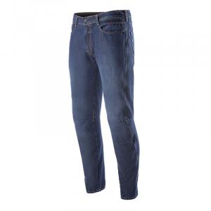 Jeans moto Alpinestars VICTORY con rinforzi in fibra aramidica Mid Tone Blu