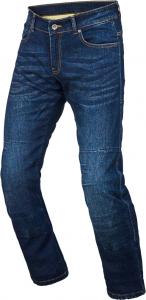 Jeans moto accorciati Macna Squad con fibra aramidica Blu scuro