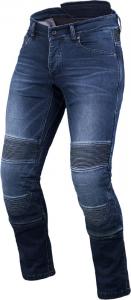 Jeans moto accorciati Macna Individi con fibra aramidica Blu